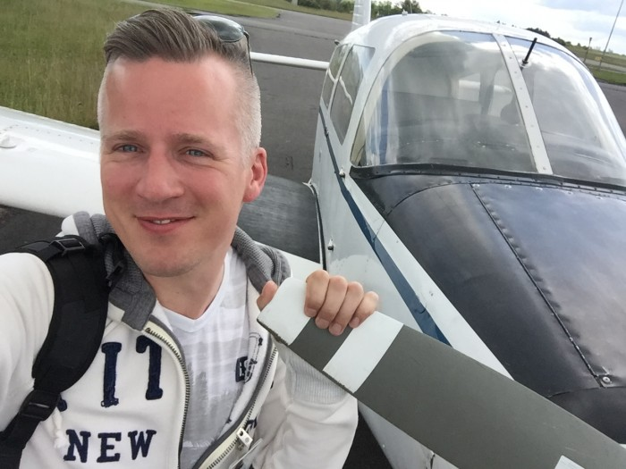 Selfie after first solo