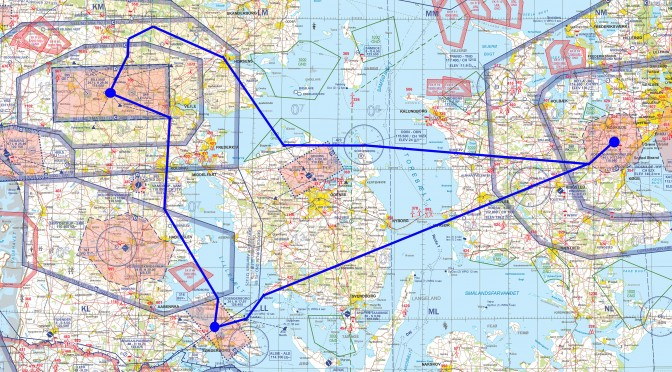 The long dual navigation flight