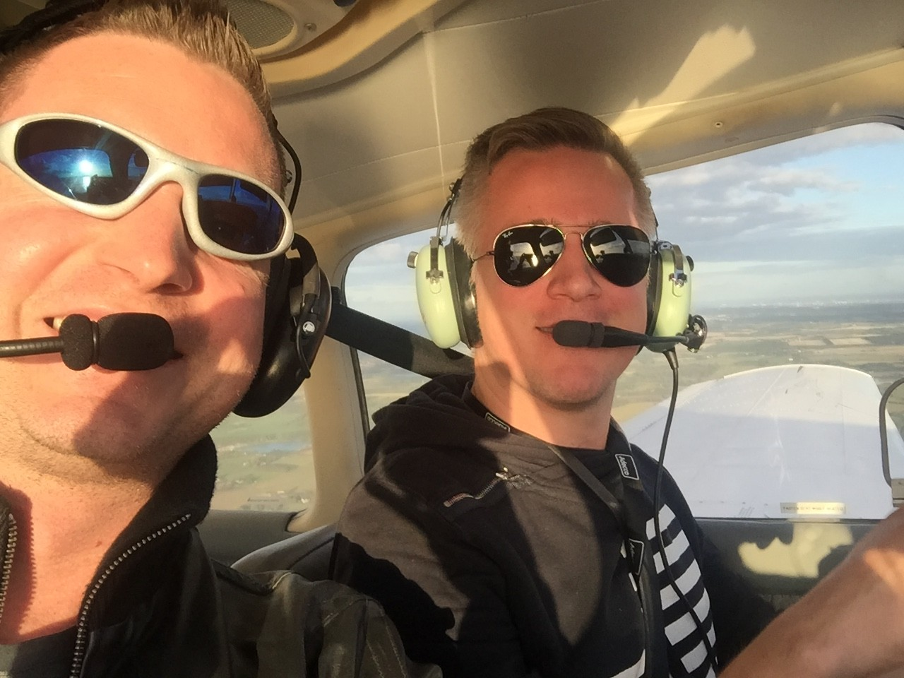 Martin and I on my first friends flight